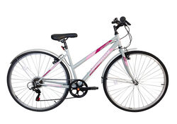 Natural Energy Ladies Trapeze Trekking Bicycle, 700c, 6 Speed - Grey Thumbnail
